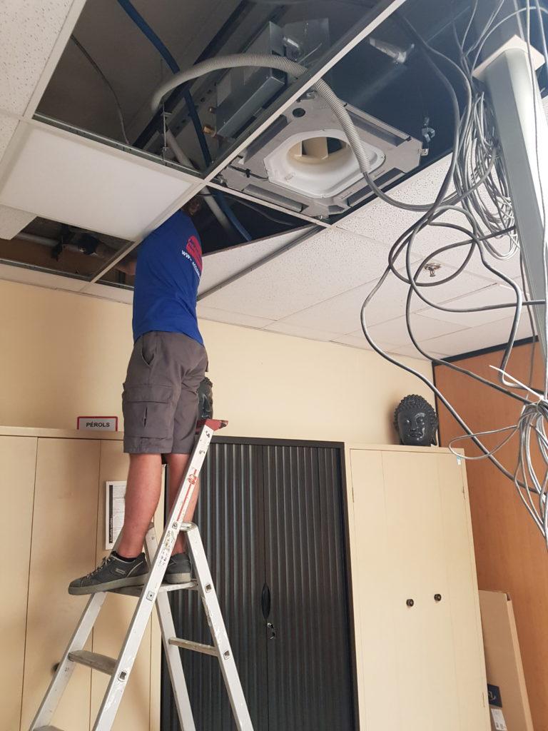 Installation Cassette Acclean'Air